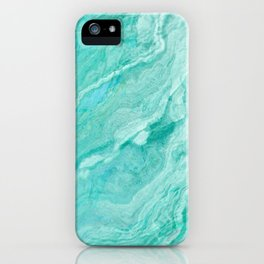 Azure marble iPhone Case