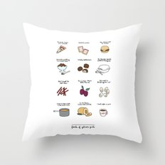 Foods of Gilmore Girls Throw Pillow