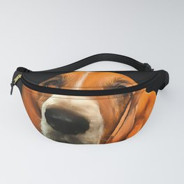 A Basset Hound. (Painting.) Fanny Pack