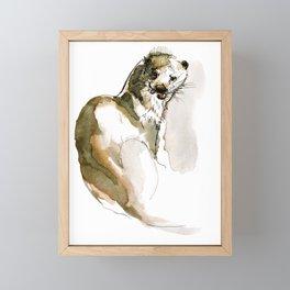 Totem Eurasian River Otter Framed Mini Art Print