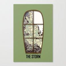 Windows the storm Canvas Print