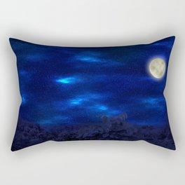 Boga Lake, Bandarban || Bangladesh (Moonlight) Rectangular Pillow