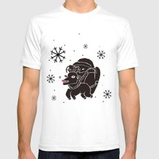 black christmas Mens Fitted Tee SMALL White