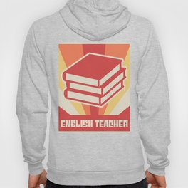 Vintage 70s Style English Teacher Poster Hoody