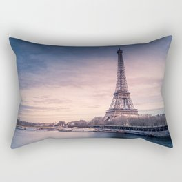 Eiffel Tower Sunset Rectangular Pillow