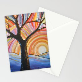 Abstract Art Landscape Original Painting ... Mountain Majesty Stationery Cards