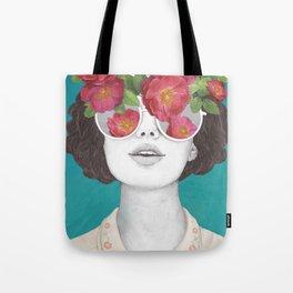 The optimist // rose tinted glasses Tote Bag
