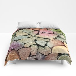 colorful wood Comforters
