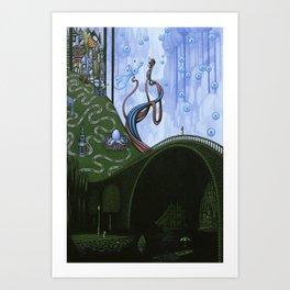 Wink For Safe Passages Art Print