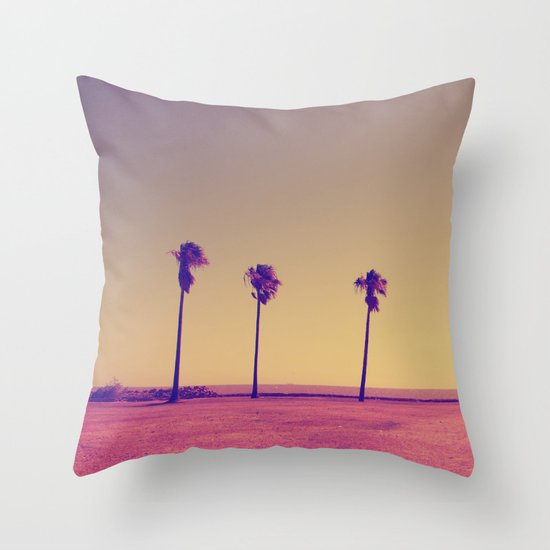Four Palms In Paradise Throw Pillow