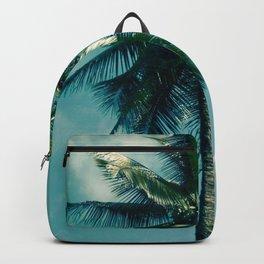 Niu Hawaiian Tropical Coconut Palm Tree Keanae Maui Hawaii Backpack
