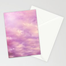 Dreamy Pink & Purple Abstract Stationery Cards