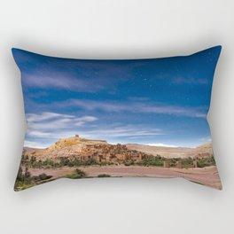 Ksar d'Aït-Ben-Haddou, Maroc // Ksar of Ait-Ben-Haddou, Morocco Rectangular Pillow