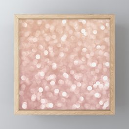 Rosegold Glitter Bokeh Glam Pattern Framed Mini Art Print