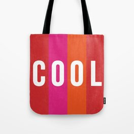 Cool Type on Warm Colors Tote Bag