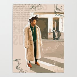Luka Sabbat Fashion Illustration // Mens Fashion Illustration Poster