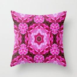 Rose Star Kaleidoscope Throw Pillow