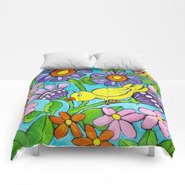 Springtime Series #5 Singing Bird Comforters