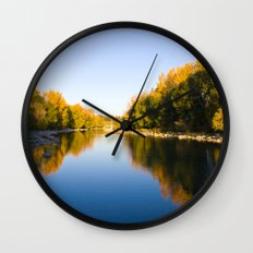 Autumn Reflections - Calgary, AB Wall Clock