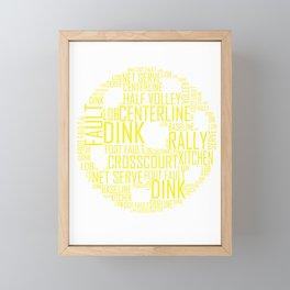 Pickleball Ball design Art Words design Gift Men Women Framed Mini Art Print