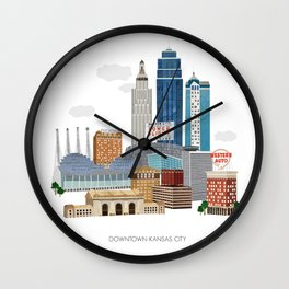 Kansas City Skyline Wall Clock