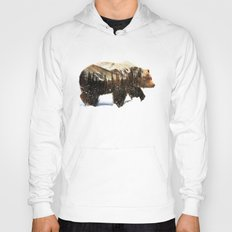 Arctic Grizzly Bear Hoody