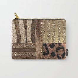 Gold Lioness Safari Chic Carry-All Pouch