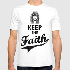 KEEP THE FAITH Mens Fitted Tee White SMALL