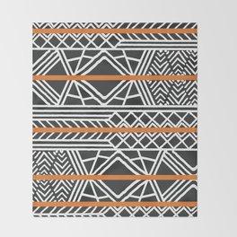 Tribal ethnic geometric pattern 022 Throw Blanket