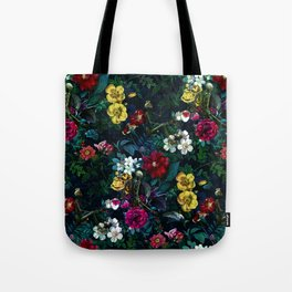 Flowers and Skeletons Tote Bag