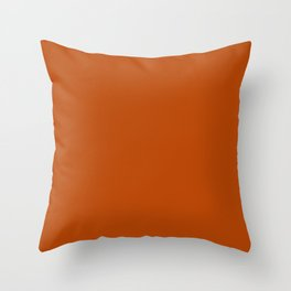 Colors of Autumn Terracotta Orange Brown Solid Color Throw Pillow