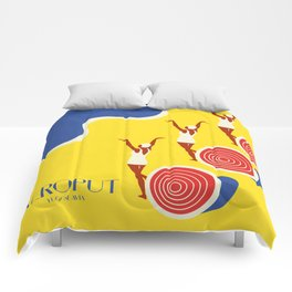 "EX-JU poster ""AEROPUT"" Comforters"