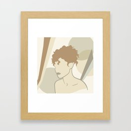 Abstract female body Framed Art Print