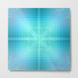Saphire Geometry Metal Print