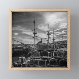 Guarding Endeavour Framed Mini Art Print