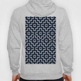Blue Geometric Pattern Hoody