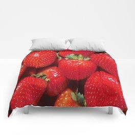 Garden Strawberries Comforters