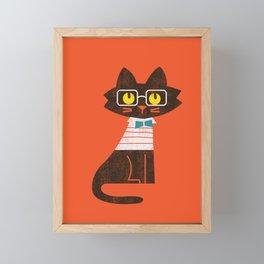 Fitz - Preppy cat Framed Mini Art Print