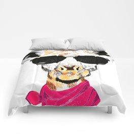 Giraffe with sunglasses Comforters