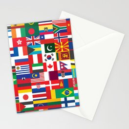 All Flags Stationery Cards