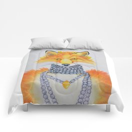 Fox Fur and Pearls Comforters
