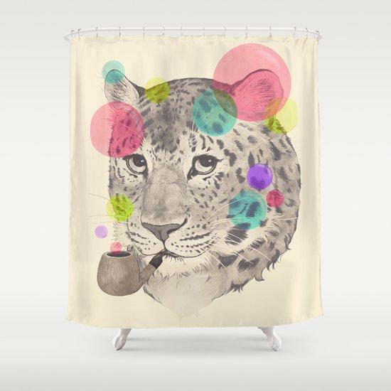 leopard changes his spots Shower Curtain