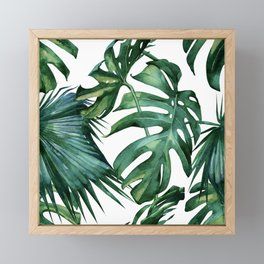 Simply Island Palm Leaves Framed Mini Art Print