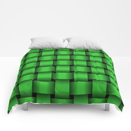 Large Lime Green Weave Comforters