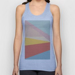 Retro Abstract Geometric Unisex Tank Top