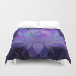 The Lotus in blue... Duvet Cover