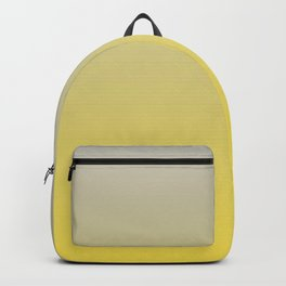 Gradient Blend Pantone 2021 Color of the Year Illuminating 13-0647 Yellow and Lead Crystal Gray Backpack