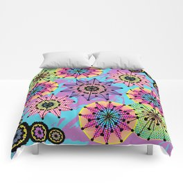 Vibrant Abstract Floral Pattern Comforters