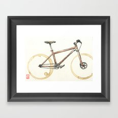 Coffee Wheels #06 Framed Art Print
