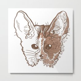 Fennec fox face Metal Print